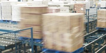 boxes on conveyor